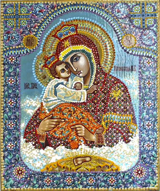 Схема почаевской божьи матери